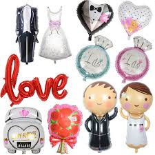 Wedding Decorations Groom Bride <b>Love Balloons Team Bride</b> To ...
