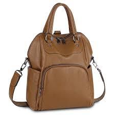 YALUXE 3 Ways <b>Women Backpack Genuine Leather</b> Shoulder Bag ...