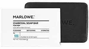 MARLOWE. Charcoal Face & Body Soap Bar No. 106 ... - Amazon.com
