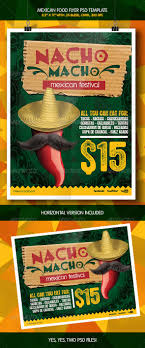 mexican macho nacho flyer template print templates flyer mexican macho nacho flyer template graphicriver