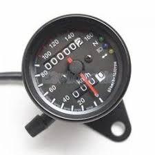 Universal Black <b>Motorcycle Dual Odometer</b> Speedometer Gauge ...