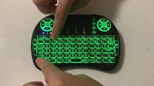 <b>Mini i8</b> keyboard with 7 color <b>backlit</b> - YouTube