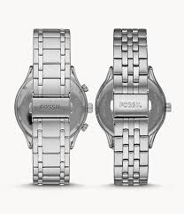 His and Her Fenmore Midsize <b>Multifunction Stainless Steel</b> Watch ...