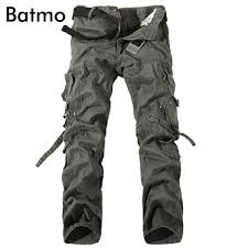Batmo 2018 <b>new arrival high quality</b> cotton many pockets gray cargo ...