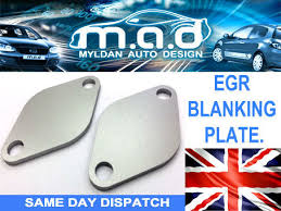 vw <b>egr blanking plate</b> *pair* 1.2 1.4 1.9 2.0 tdi lupo bora polo golf t4 t5