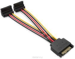 <b>Vention SATA</b> 15pin M/<b>SATA</b> 15pin F, Black <b>кабель</b>-разветвитель ...