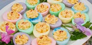 Image result for image of easter egg into deviled eggs