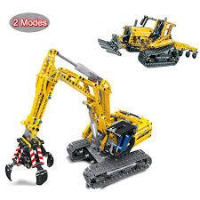 In Stock <b>38014</b> City <b>Technic 720pcs</b> Excavator 2 In 1 Engineering ...