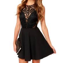<b>Fashion Women Sexy</b> Sleeveless Lace Dress V Back Party Dresses ...