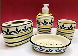 HS HINDUSTANI SAUDAGAR Hand Painted <b>Ceramic Bathroom</b> ...