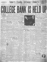 college savings bank robbery 1935 ames historical society college savings bank robbery 1935