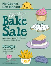 bake flyers templates flyer template and · charity bake signs