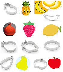 VIIRY 7Pcs Fruit Cookie Cutter Set, Stainless Steel ... - Amazon.com
