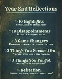 Take time before the end of the year to really review and reflect ... via Relatably.com