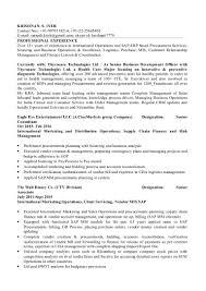 krishnan business operations analyst cv