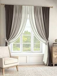 look for heavier drapes amass similar to sheers across the window ...