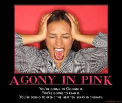 Agony in Pink | Know Your Meme via Relatably.com
