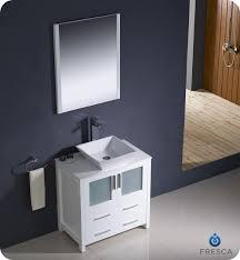 bathroom place vanity contemporary: contemporary single vanities fresca torino quot white modern bathroom