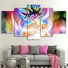 <b>5 Pieces</b> Dragon Ball <b>Goku</b> Colorful Wall Decor Canvas - DBZ Shop