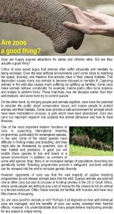 Why Zoos Are An Important Part Of Responsible Wildlife Tourism     Job   Sample   Resume English speeches for kids  New In Essays Collection  Library