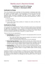 Example Resume  Sales Objectives For Resume  professional     Binuatan fitness instructor resume sample with professional courses with gym instructor and aqua instructur