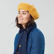 Joules <b>Hats</b> Wilsford Wool Felt <b>Beret</b> Gold Women's <b>Clothing</b> ...