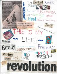 ya outside the lines who i was at the end of high school some things are the same some are different now i think that bit in the top right hand corner still sums me up 16 years later writing feminism and punk