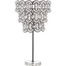 Gunmetal Beaded Chandelier Lamp 51x28cm - Lighting - Home ...