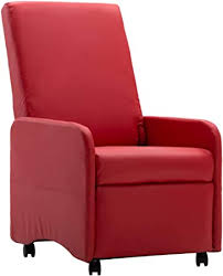 vidaXL <b>Reclining Chair</b> with Wheels / <b>Recliner</b> / <b>TV</b> / <b>Recliner</b> ...