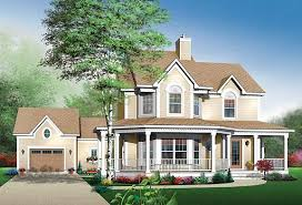 Top Three Victorian House Plans   The House DesignersThe Maybloom house plan has several key features of a Victorian home  including a wraparound porch and bay windows  The asymmetrical facade gives this house