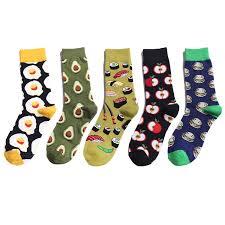 Funny Cotton Socks Unisex Women <b>Men</b> Fashion Fruit <b>Avocado</b> ...