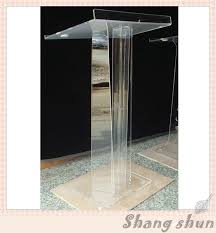 crystal acrylic lectern glass pulpit for church acrylic office furniture