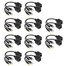 10 Pairs Passive PoE Over Ethernet Injector and ... - Amazon.com