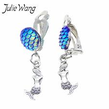 <b>Julie Wang</b> 2pcs/package 12mm Mermaid Jewelry Earrings Clip ...