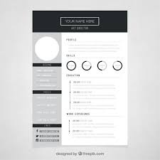 circles resume template vector art director resume template
