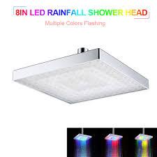 MABOTO LED Rainfall Shower Head Square Shower Head Multiple ...