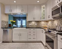 l beautiful modern country french kitchen ideas headlining the captivating white gloss rta kitchen cabinets with black granite l shaped countertops and affordable kitchen furniture