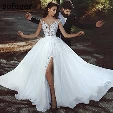 White Summer Lace Mermaid Sweetheart Elegant Wedding Dress ...