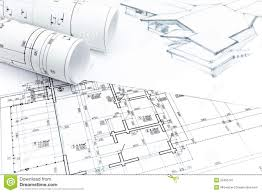 House Drawing With With House Plan Blueprints Stock Photo   Image    House drawing     house plan blueprints