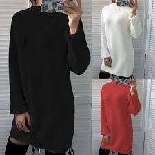 Warm Winter <b>Turtleneck Sweater Women</b> Pullover Thick Knitted Top ...