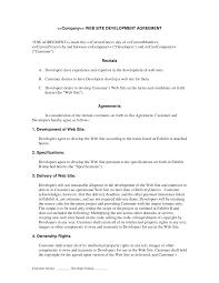 web development contract developer centered web development web developer contract template printable documents