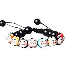 CXLD <b>Lucky Cat Bracelet</b> Charm Ceramic Beads Pine Stone ...