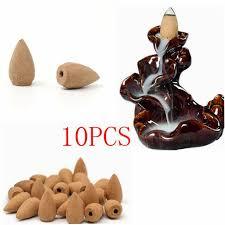 10pcs <b>Retro</b> Handmade Porcelain <b>Ceramic Backflow Incense</b> ...