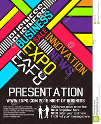 expo flyer annual event advresting poster stock vector image expo flyer annual event advresting poster