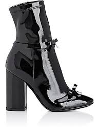 We Adore: The Bow-Embellished Patent Leather Ankle Boots from ...