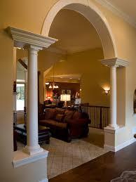 pillar arch home design photos beautiful living room pillar