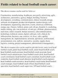 top  head football coach resume samples