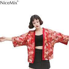 2019 <b>NiceMix</b> Summer <b>Harajuku</b> Blouse Women <b>Kimono</b> Cardigan ...