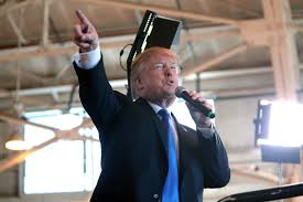 trump s incoherent anti terrorism policy consortiumnews donald trump speaking supporters at a hangar at mesa gateway airport in mesa arizona dec 16 2015 flickr gage skidmore