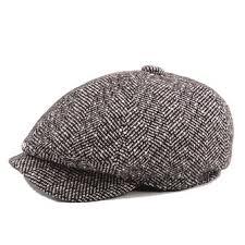 mens unisex vintage <b>cotton octagonal cap</b> winter stripe gentleman ...